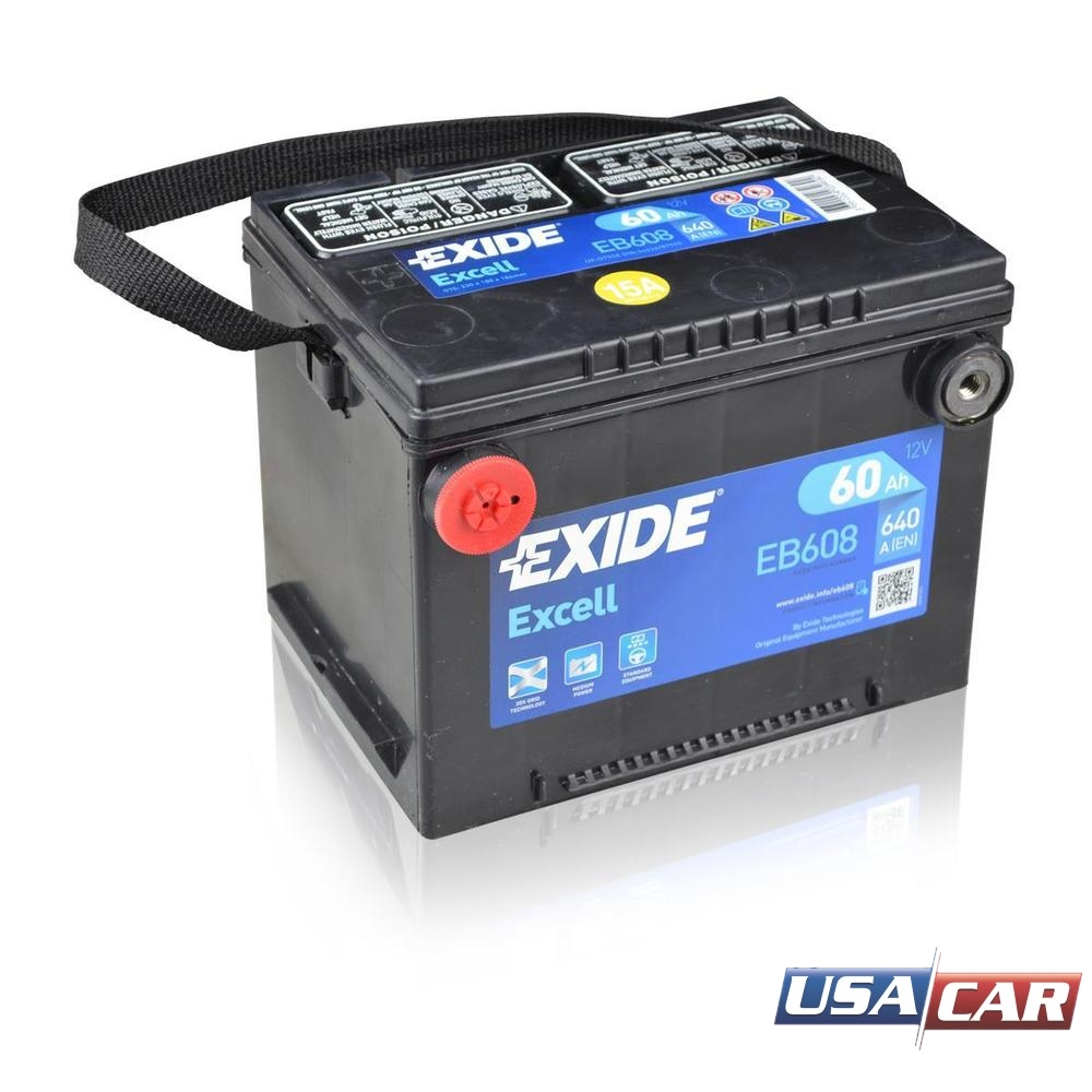 Exide Excell EB608 60Ah L+