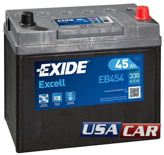EXIDE Excell 45 А/ч EB454