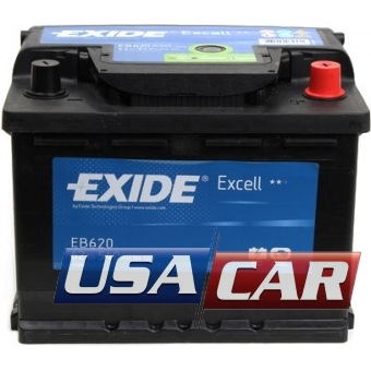 EXIDE Excell 62 А/ч EB620