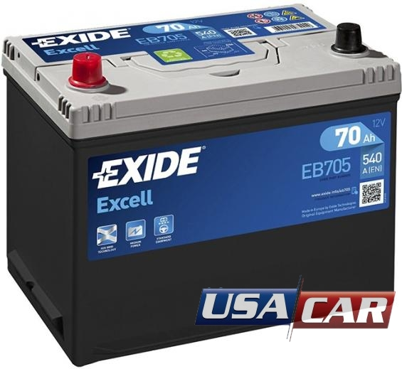 EXIDE Excell 70 А/ч EB705
