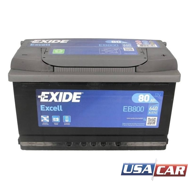 EXIDE Excell 80 А/ч EB800