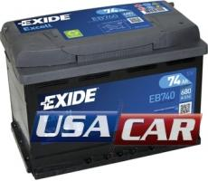EXIDE Excell 74 А/ч EB740