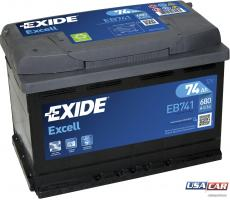 EXIDE Excell 74 А/ч EB741